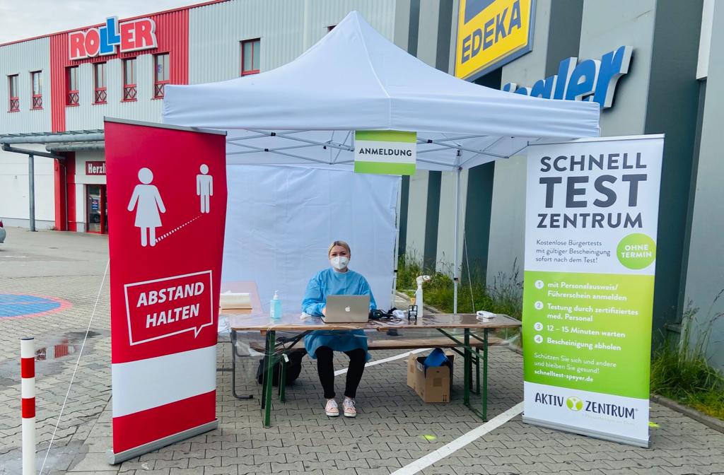 Schnellteststation Aktiv Zentrum Speyer